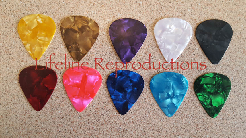 Stay-put virtuoso guitar pick colors