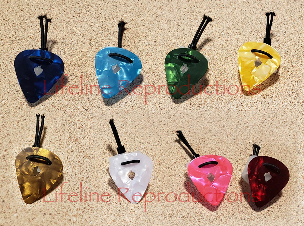 Stay-put virtuoso guitar pick lineup